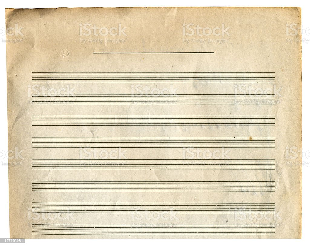 Paper background with music score royalty-free stock photo