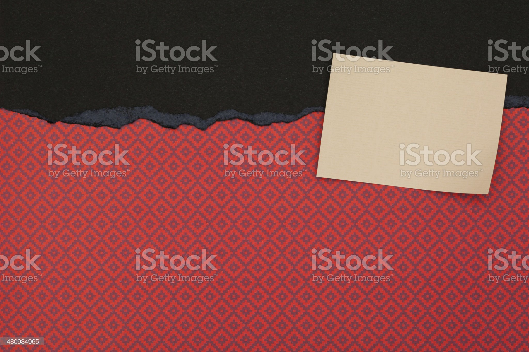 Paper Backgrounds, Patterns, Red / Black Classic with Empty Card royalty-free stock photo