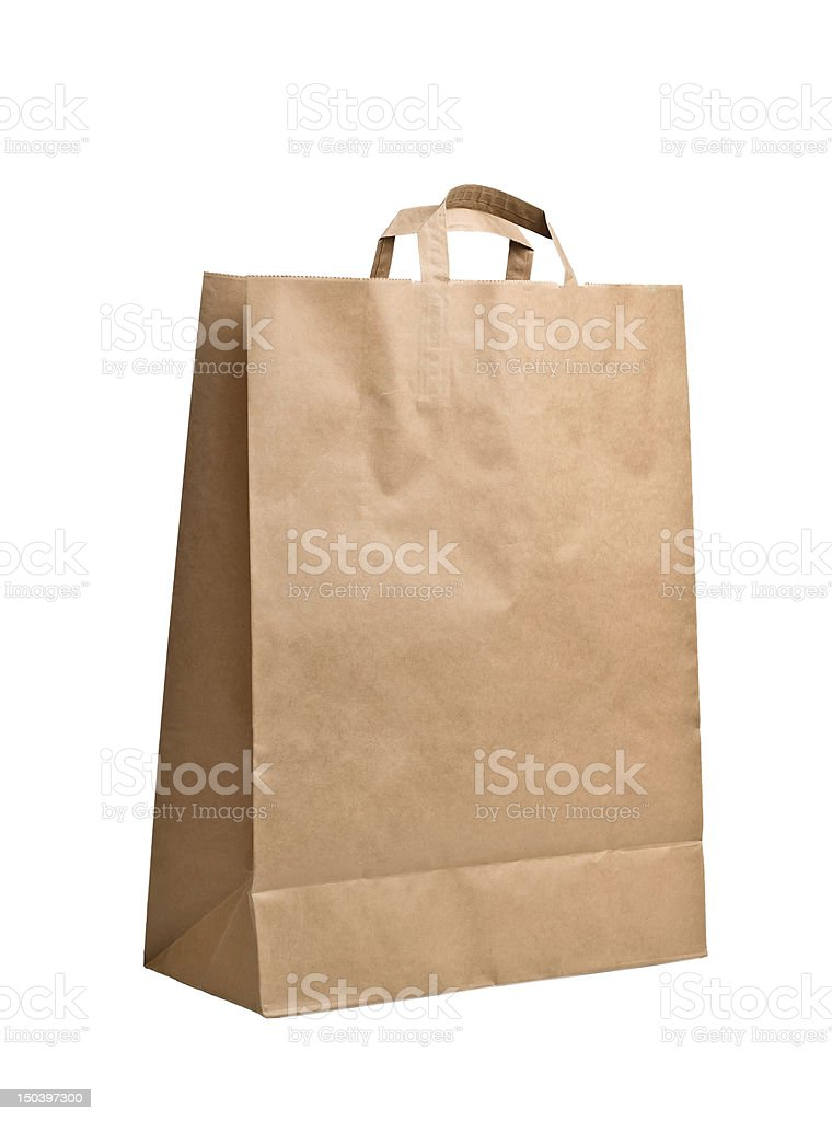 Paper Bag isolated on white royalty-free stock photo