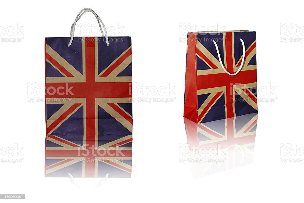 Paper bag, isolated. royalty-free stock photo