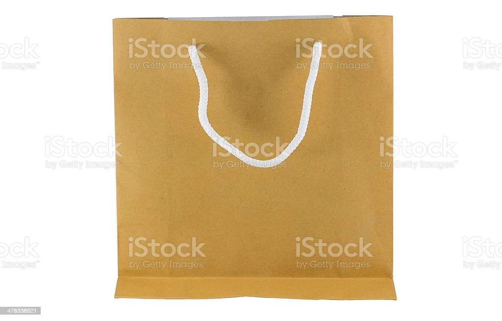 Paper bag on white background royalty-free stock photo