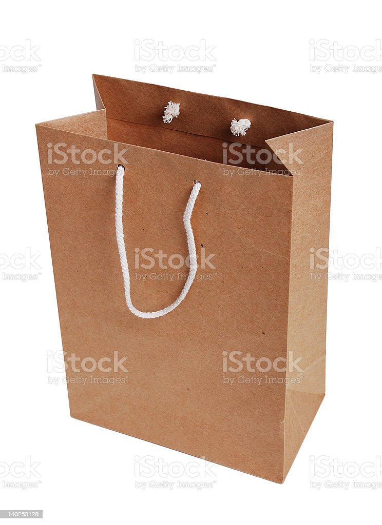 Paper bag royalty-free stock photo
