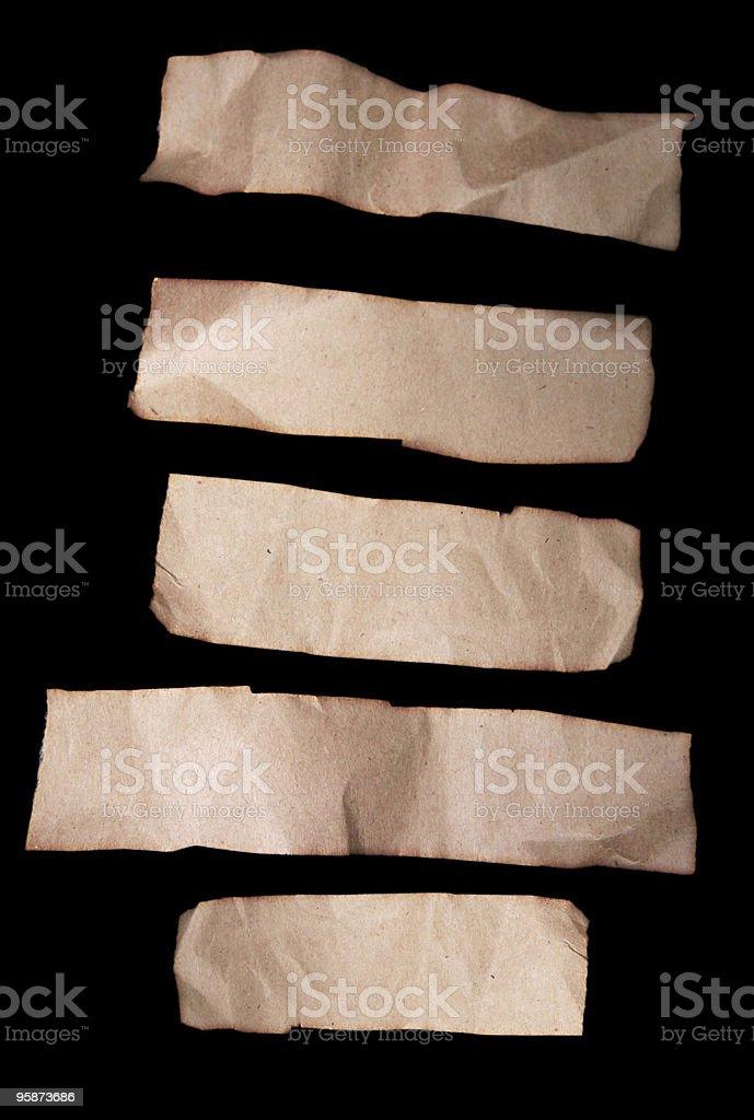 paper bag scraps stock photo