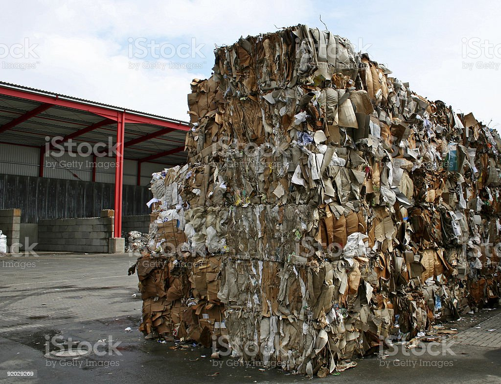 paper bales royalty-free stock photo