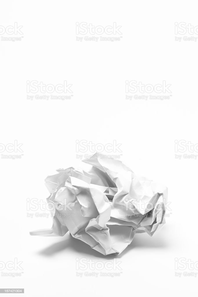 Paper ball stock photo