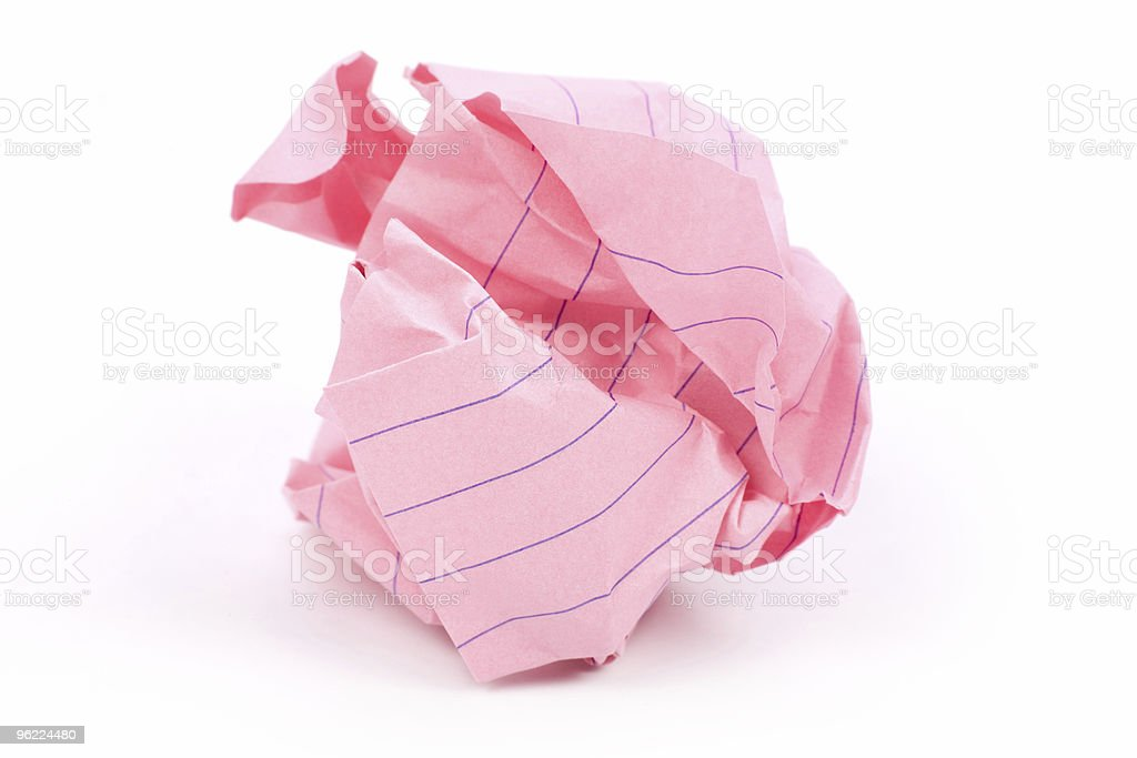 paper ball royalty-free stock photo