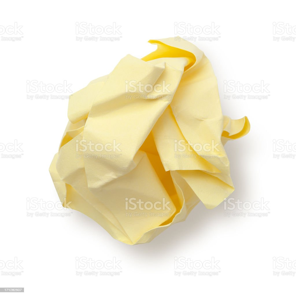Paper Ball Sticky Note. royalty-free stock photo