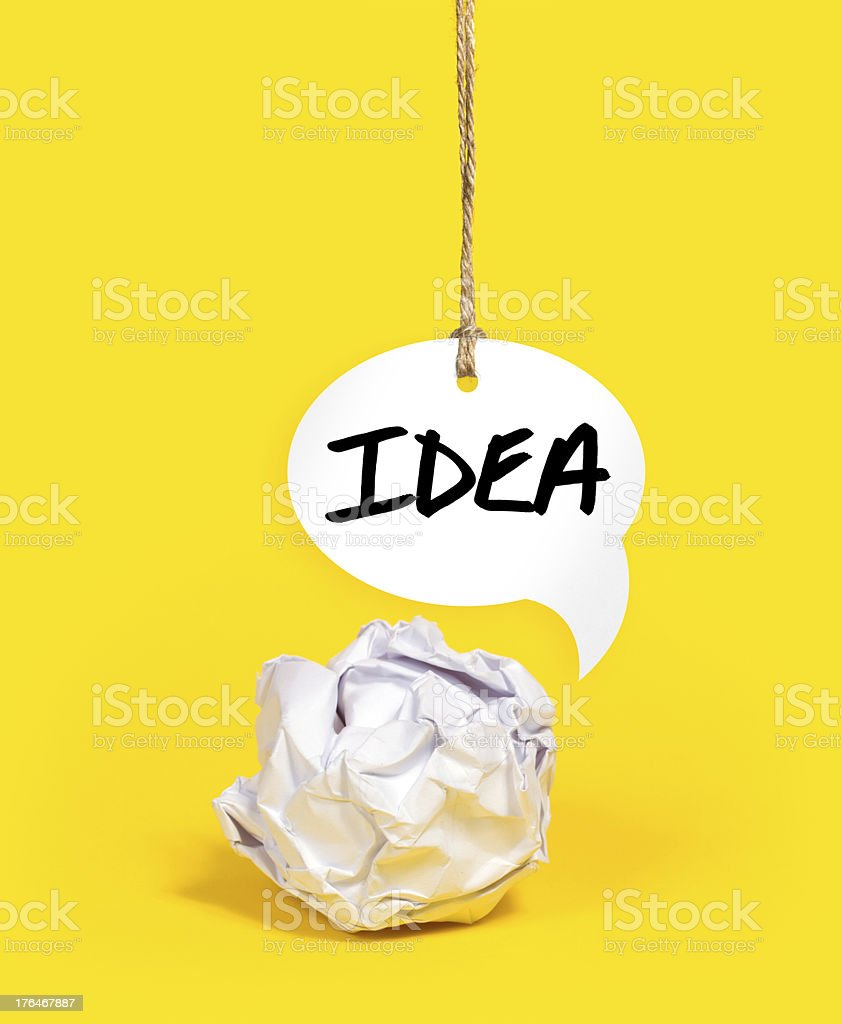 Paper Ball with Brilliant Idea royalty-free stock photo