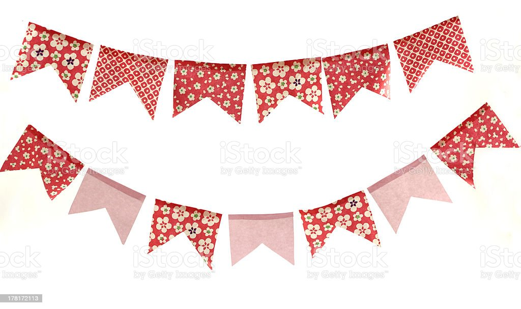 Paper banners stock photo