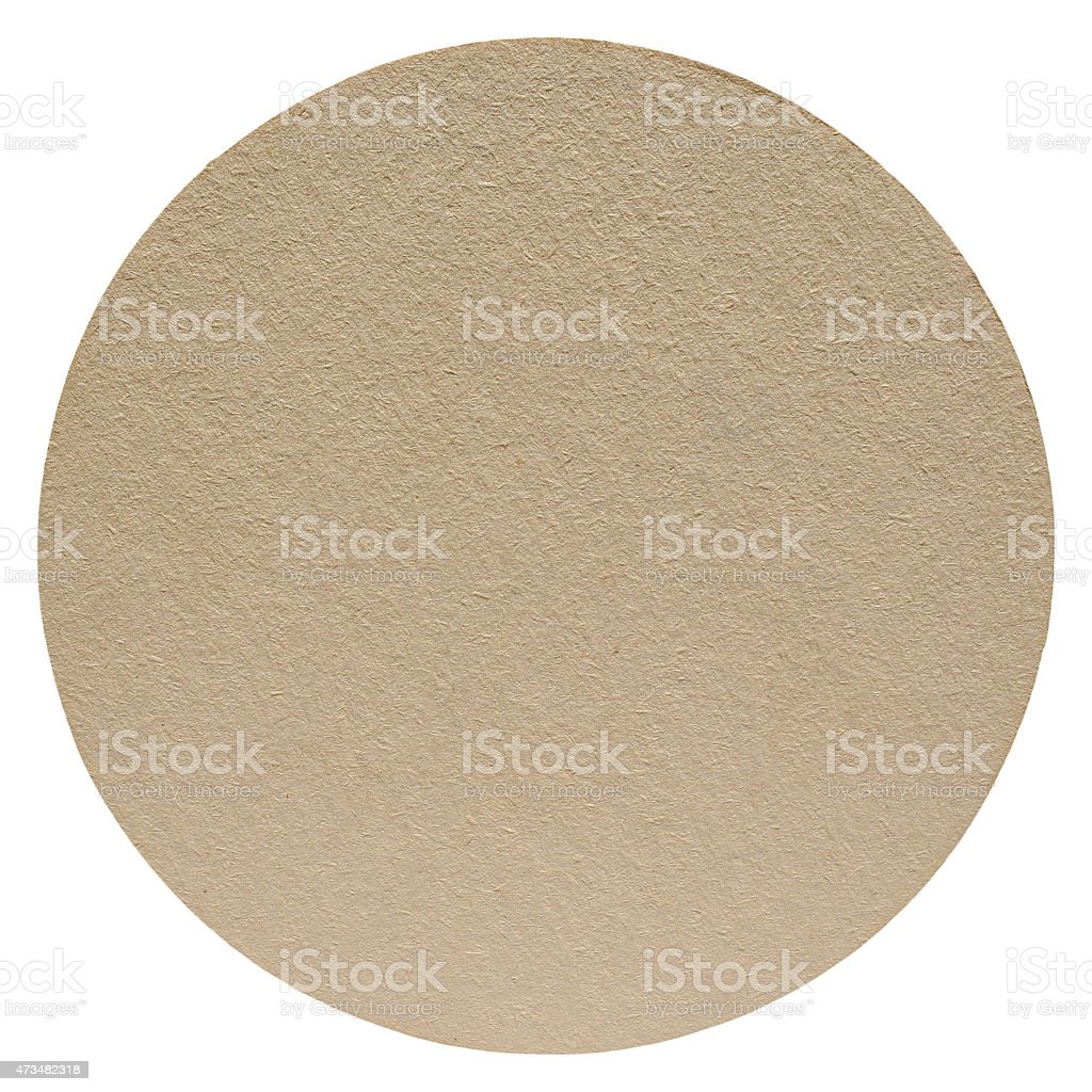 Paper beermat isolated stock photo