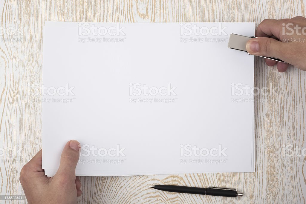Paper binding royalty-free stock photo