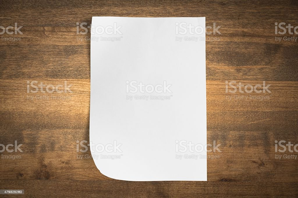 Paper, Blank, White stock photo