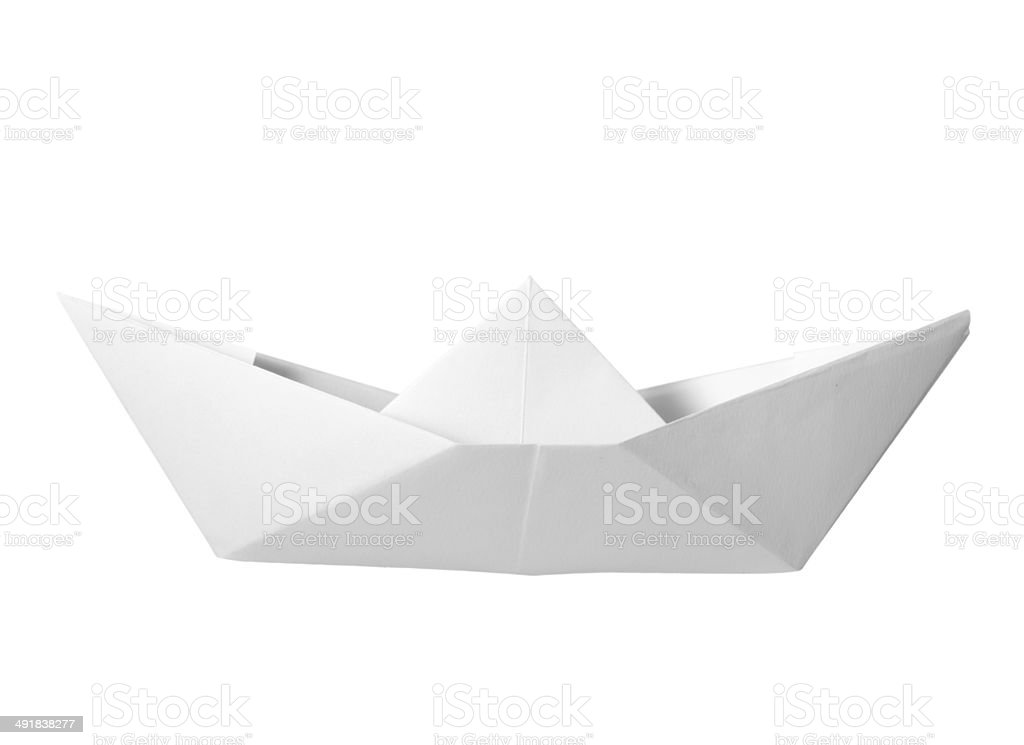 paper boat childhood float toy stock photo