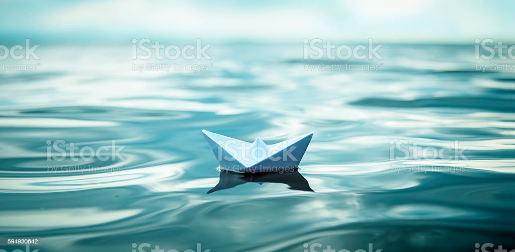Paper Boat Panorama stock photo
