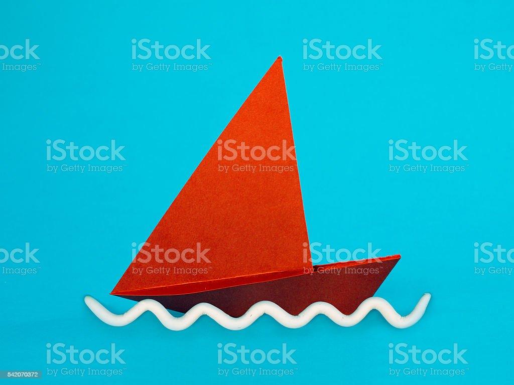 Paper boat - origami