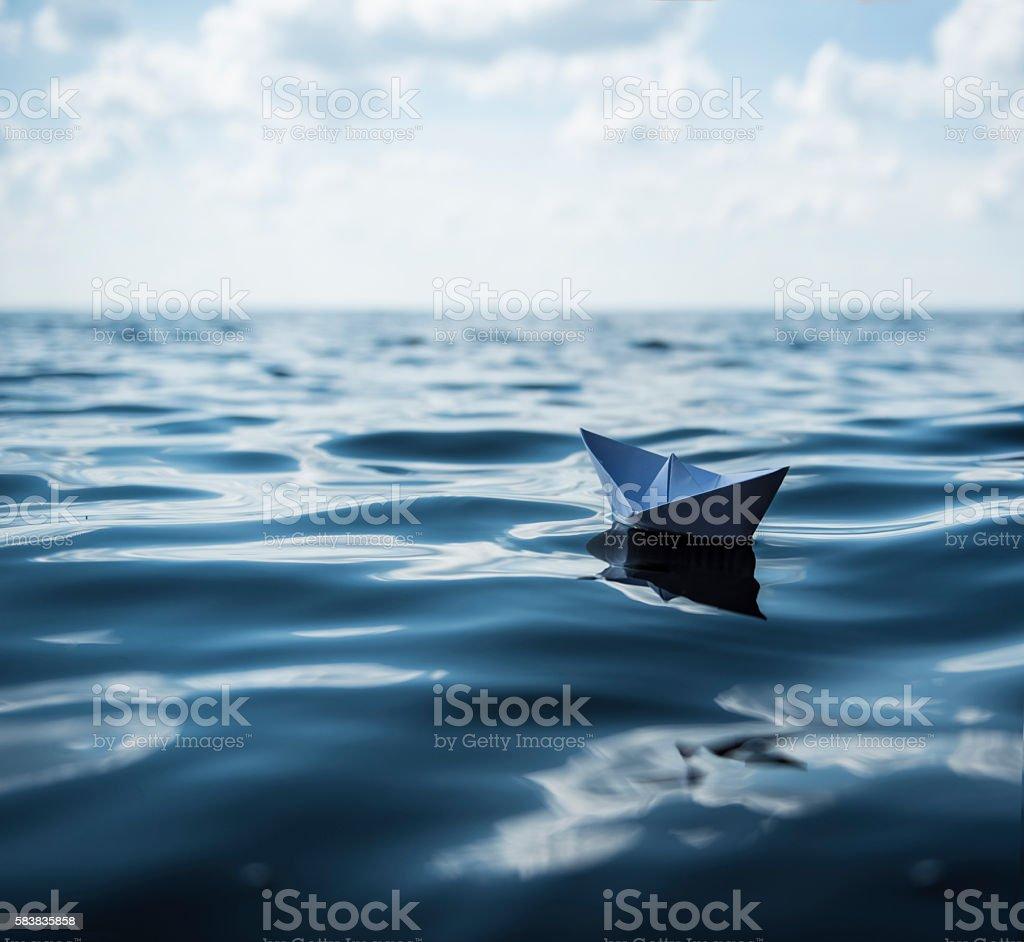 Paper Boat stock photo