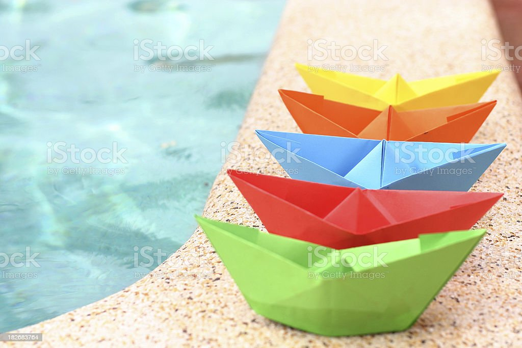 Paper Boats royalty-free stock photo
