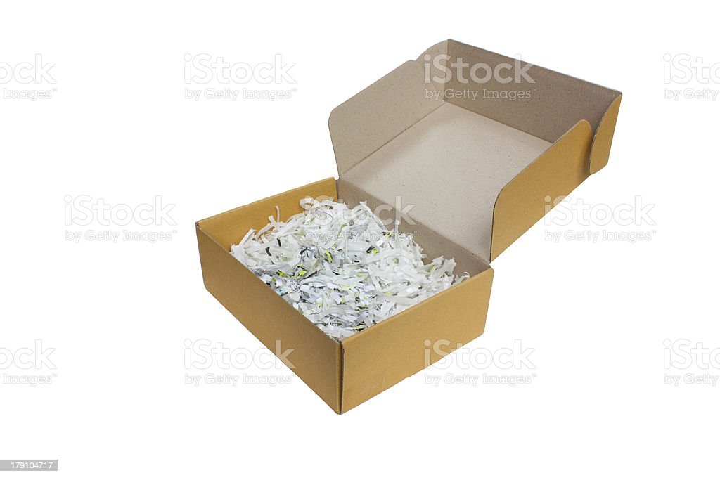 Paper Box Isolated On White Background. royalty-free stock photo