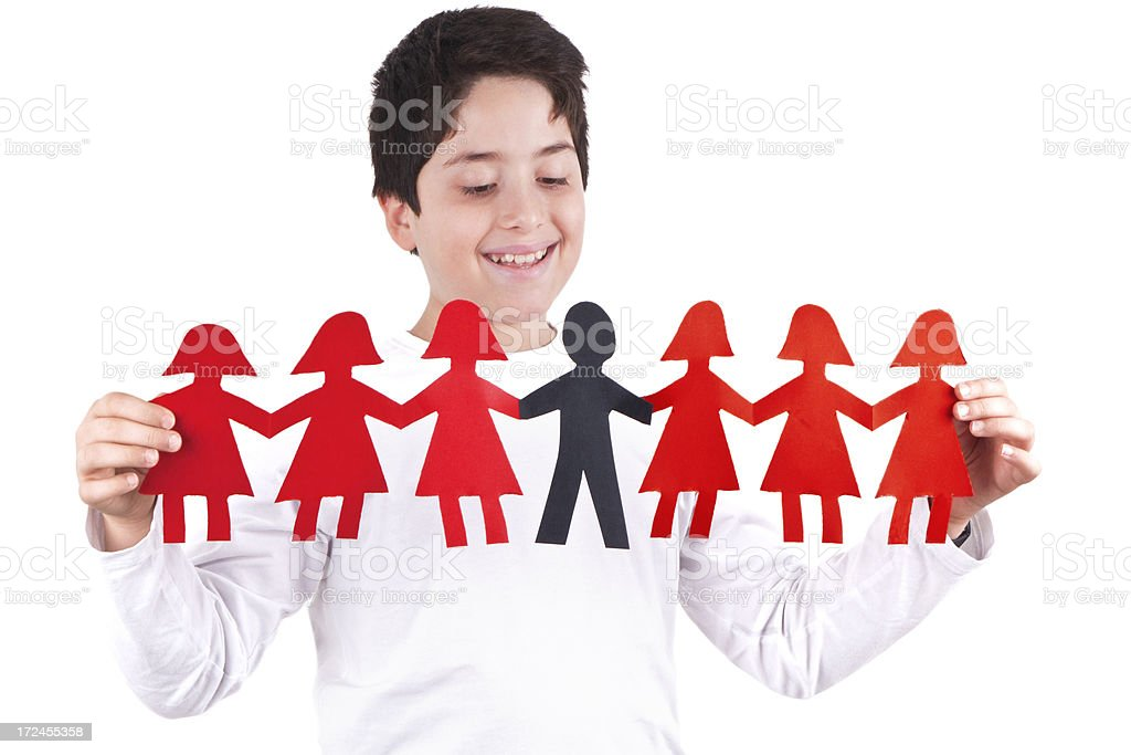 Paper Chain Men and Women royalty-free stock photo
