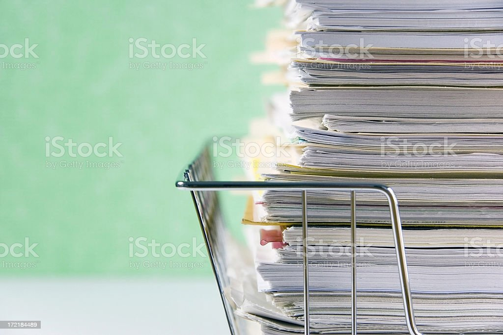 Paper Chase royalty-free stock photo