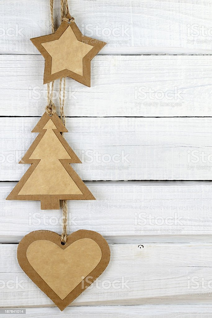 Paper Christmas decorations royalty-free stock photo