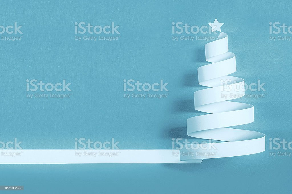 Paper christmas tree royalty-free stock photo