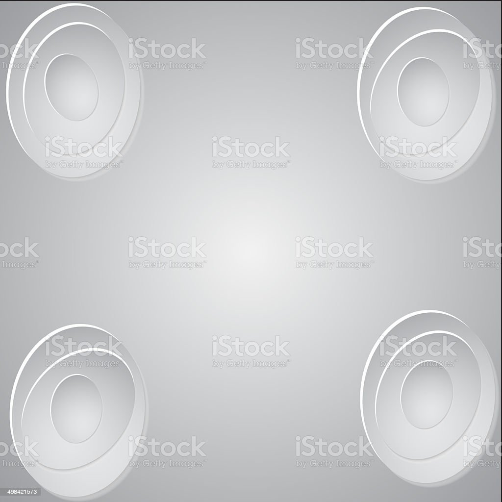 Paper circle banner with drop shadows.  illustration royalty-free stock photo