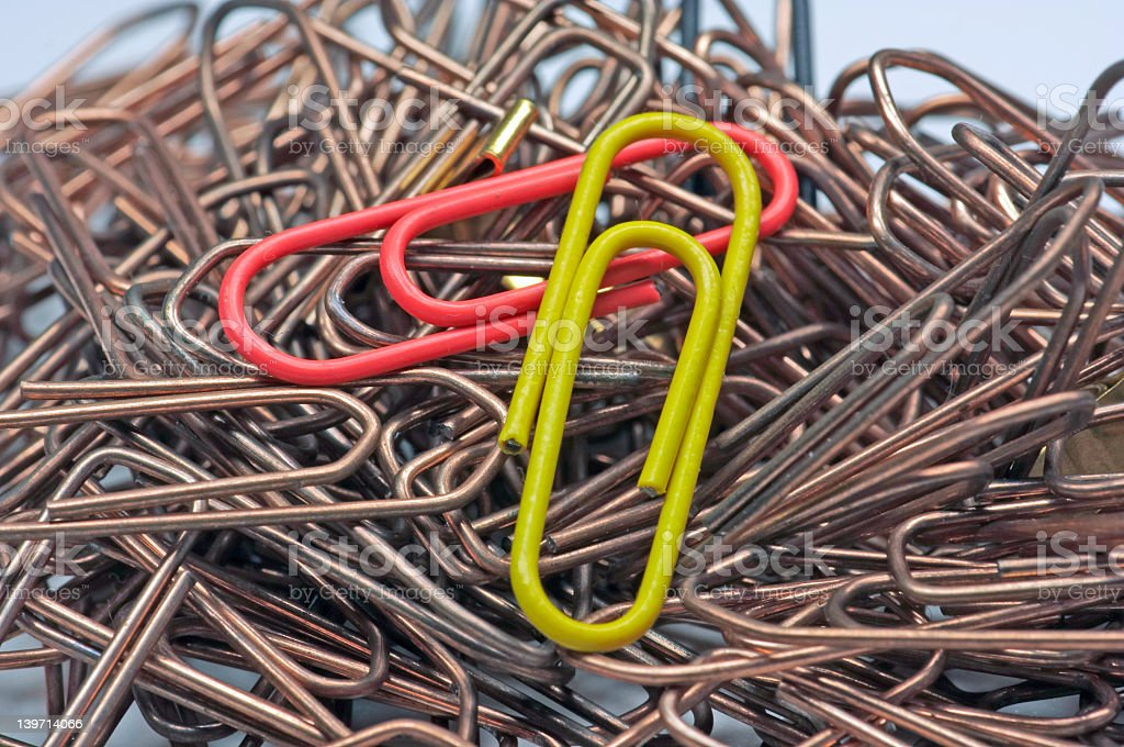 Paper Clip - 3 royalty-free stock photo