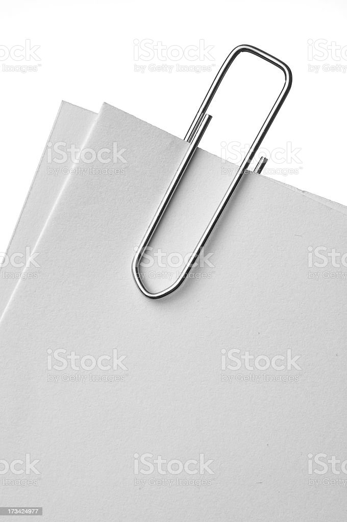 paper clip and note royalty-free stock photo