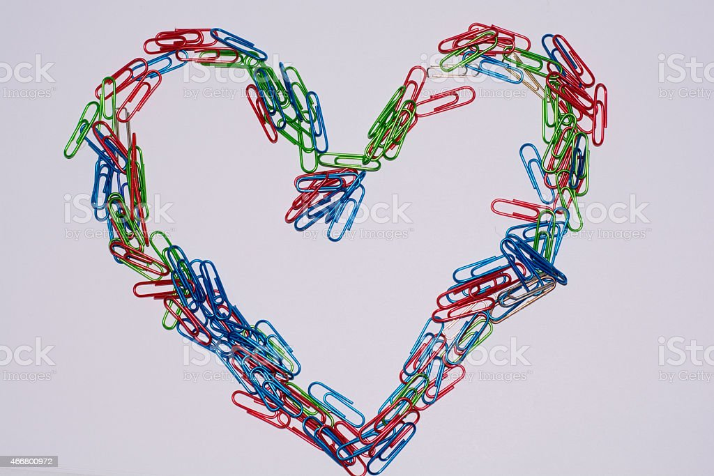 paper clip Heart royalty-free stock vector art