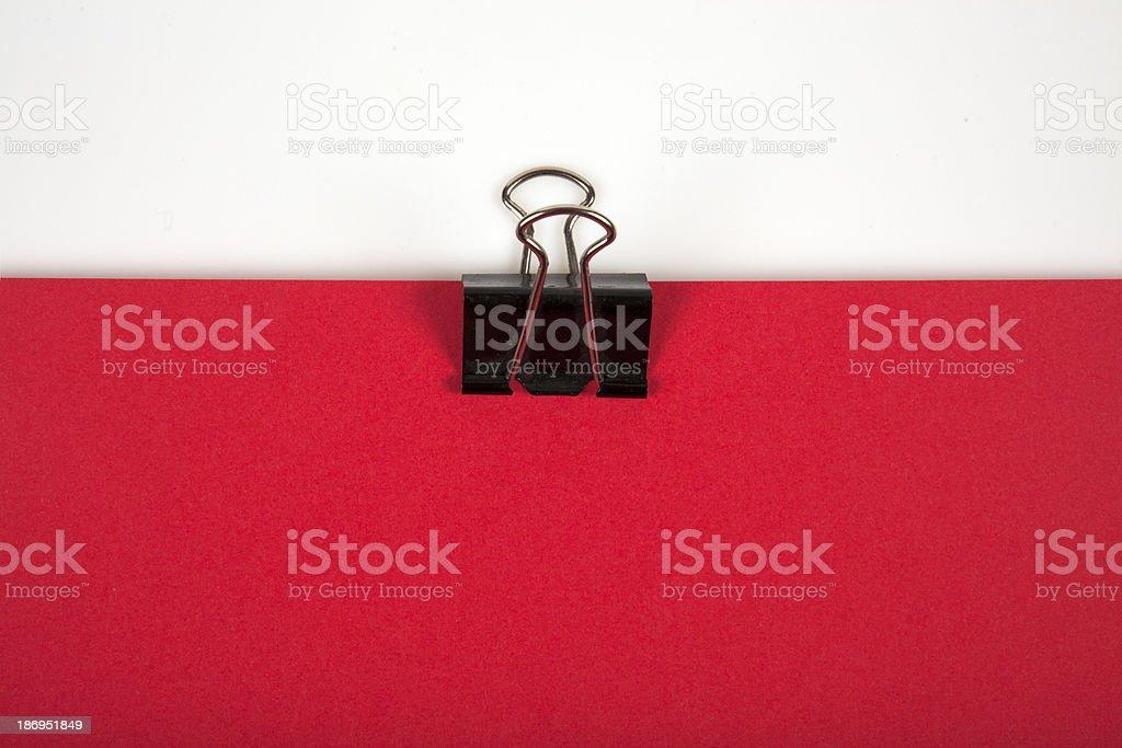 Paper Clip - looks like Polish flag royalty-free stock photo
