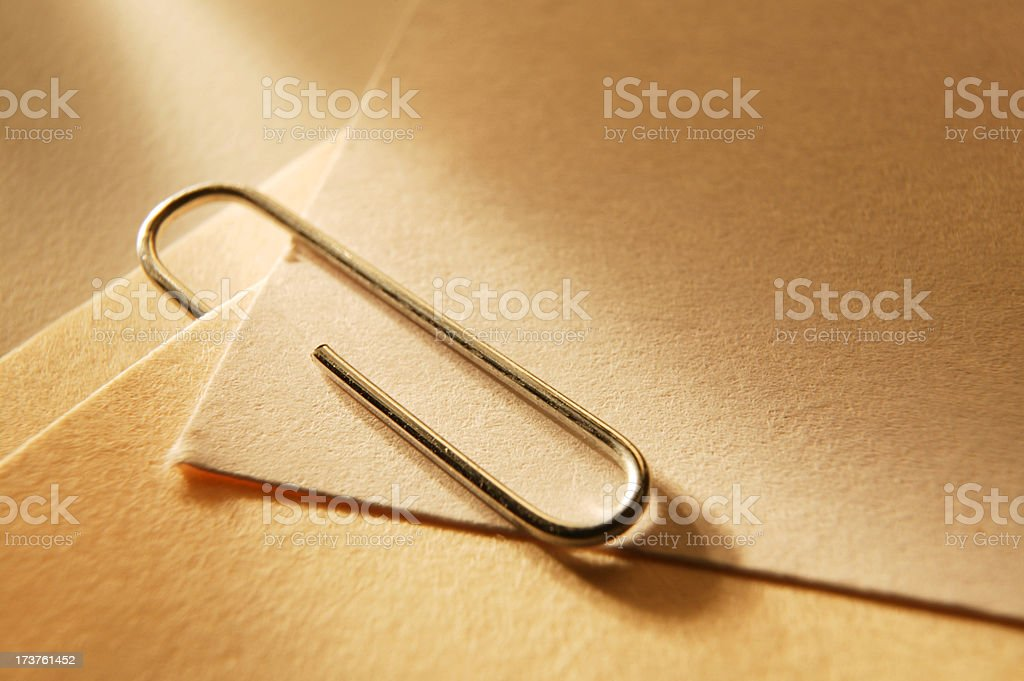 Paper Clip & Note Cards royalty-free stock photo