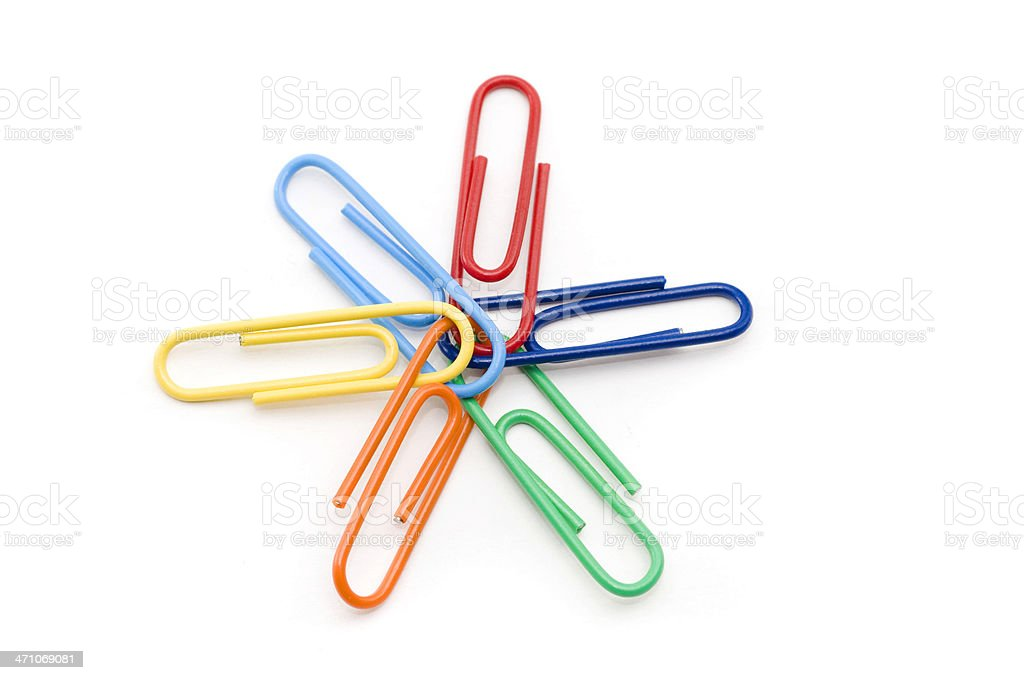 Paper Clip Teamwork royalty-free stock photo