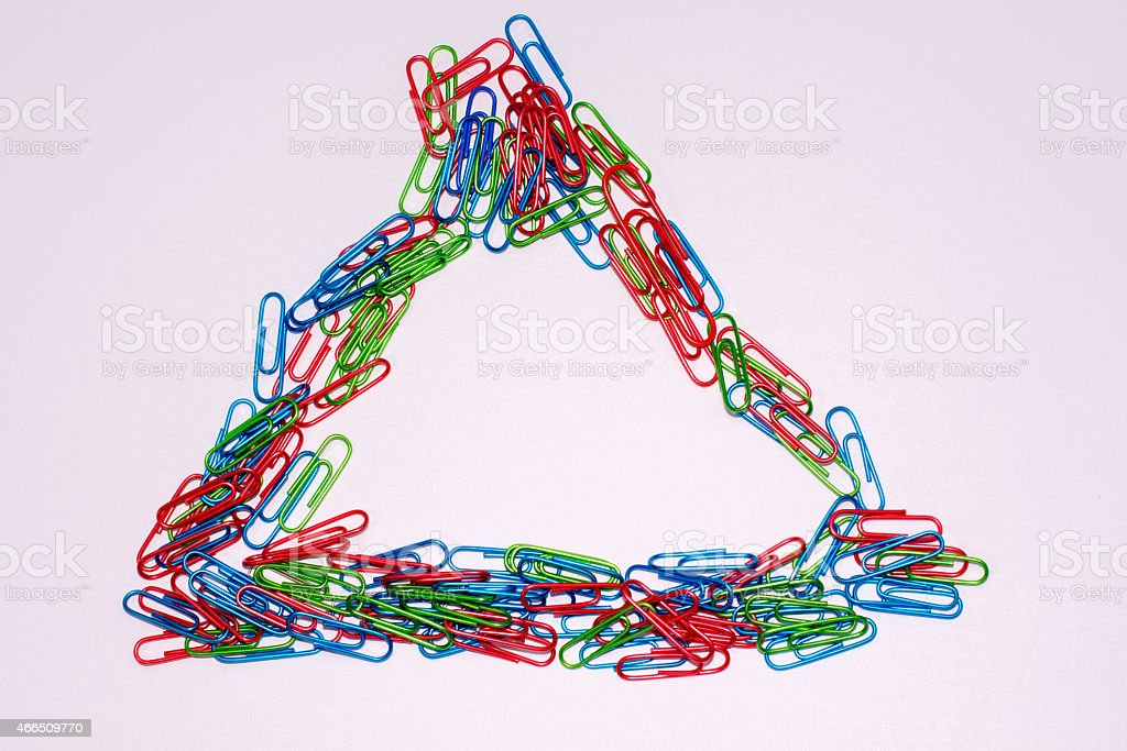 paper clip Triangle royalty-free stock photo