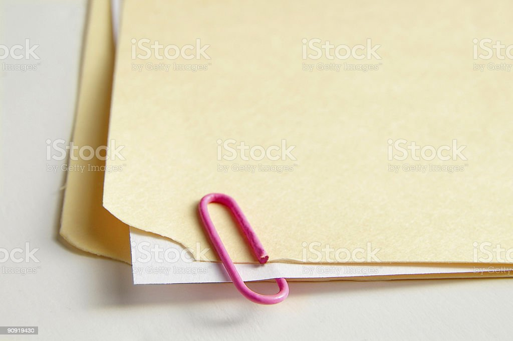 Paper clipped royalty-free stock photo