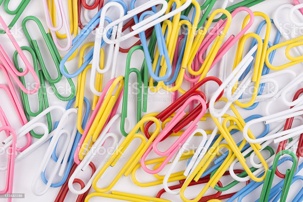 paper clips royalty-free stock photo
