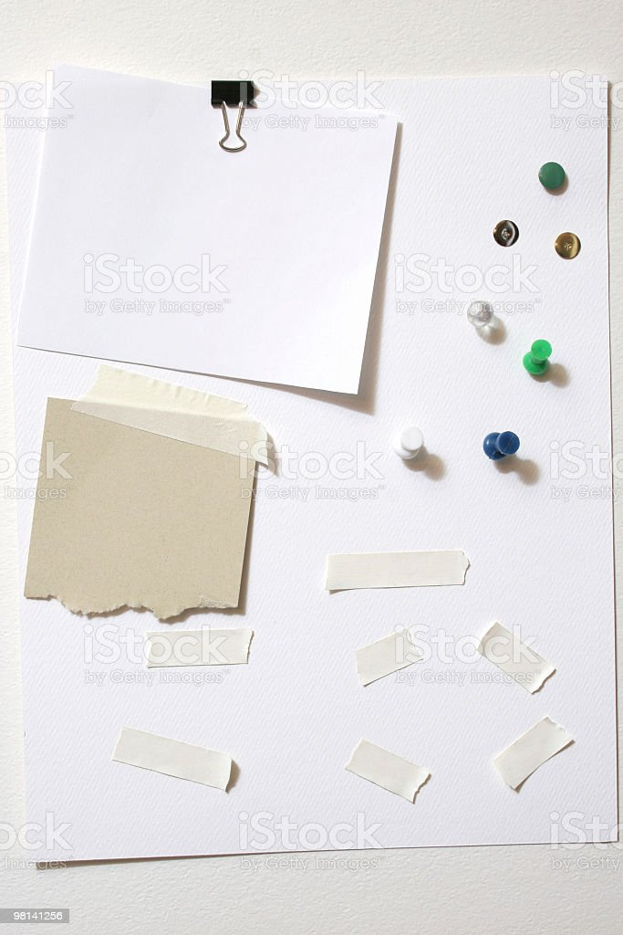 Paper, Clips, Tacks, and Tape royalty-free stock photo