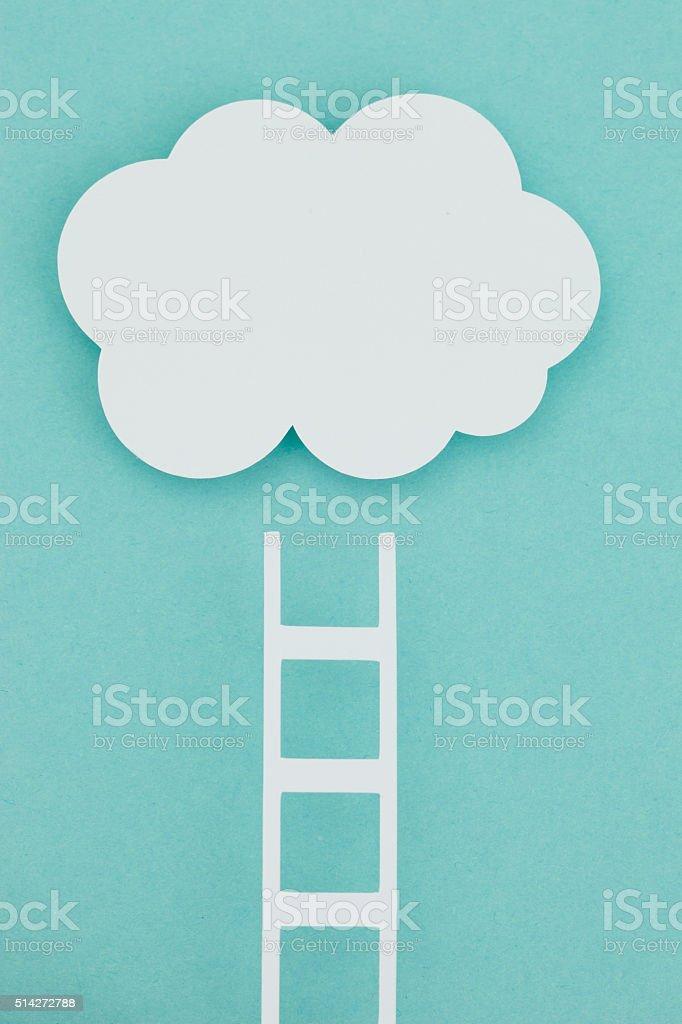 Paper cloud stock photo