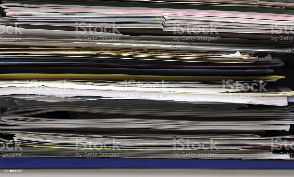 Paper Clutter royalty-free stock photo