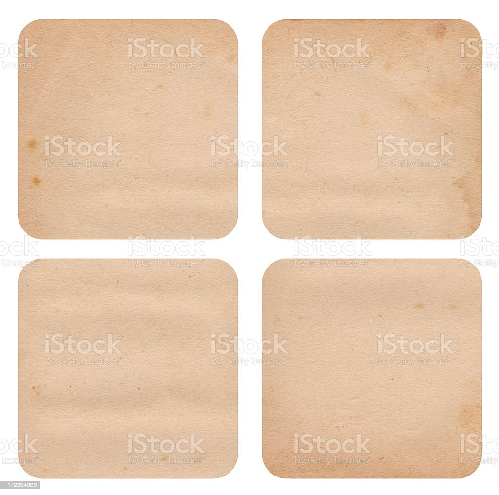 Paper Coasters/Tags XXXL royalty-free stock photo