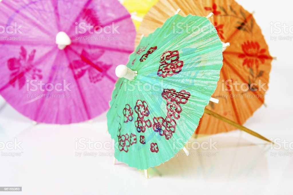 Paper cocktails parasols royalty-free stock photo