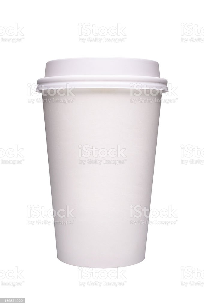 Paper coffee cup royalty-free stock photo
