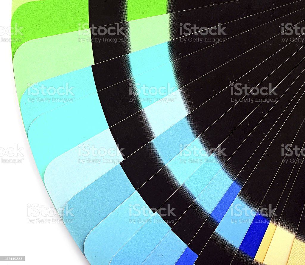 Paper color chart background. stock photo