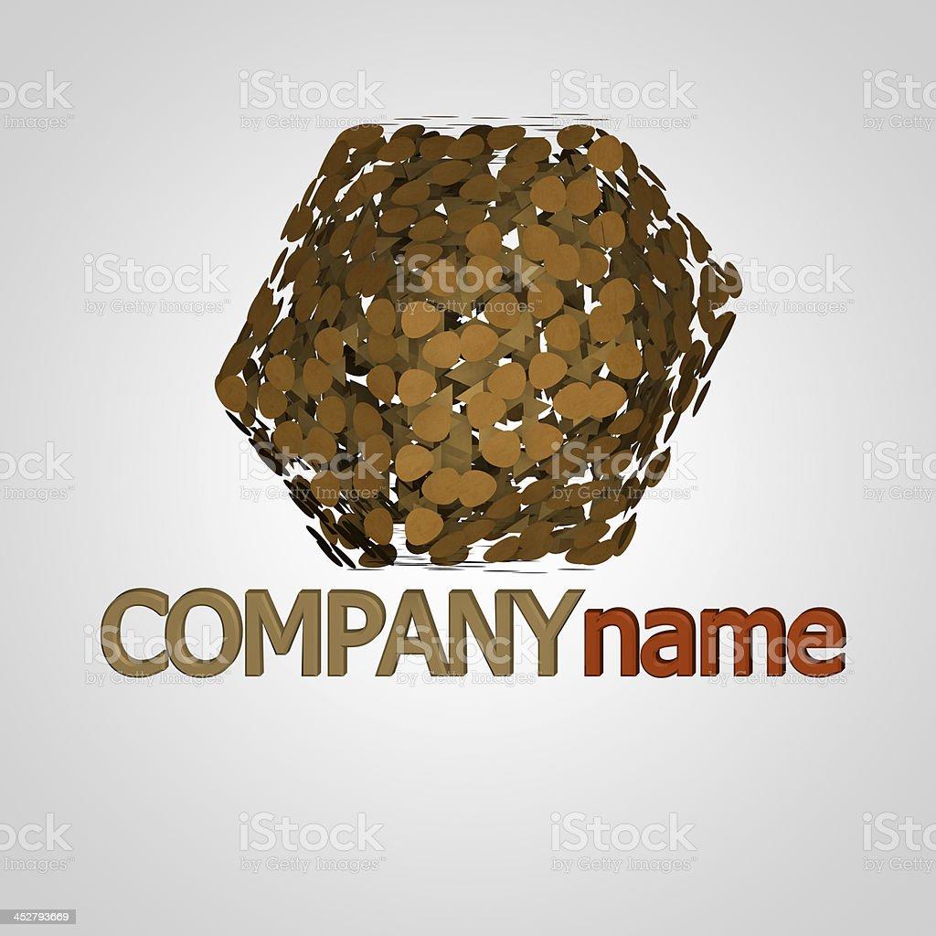 Paper company logo royalty-free stock photo