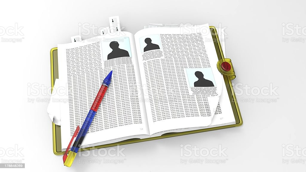 Paper copybook royalty-free stock photo
