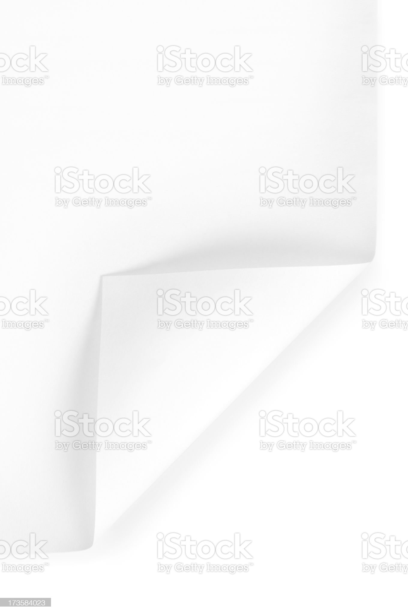 Paper corner royalty-free stock photo