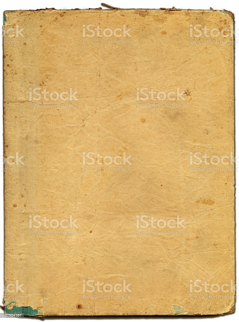 paper covered notebook stock photo