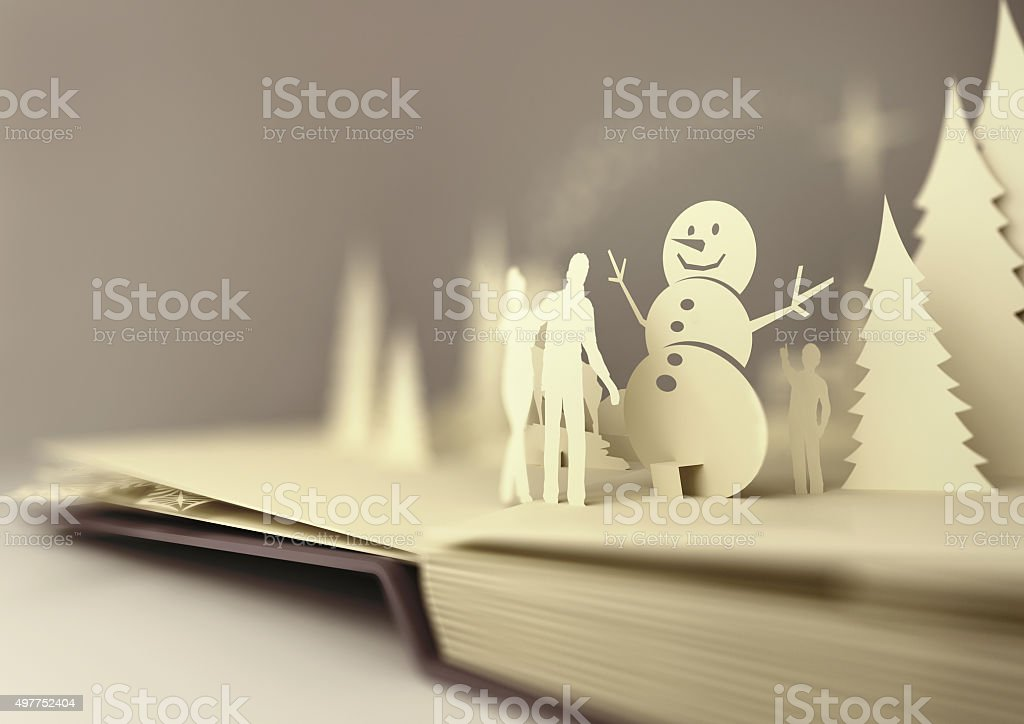 Paper Craft Christmas Story stock photo