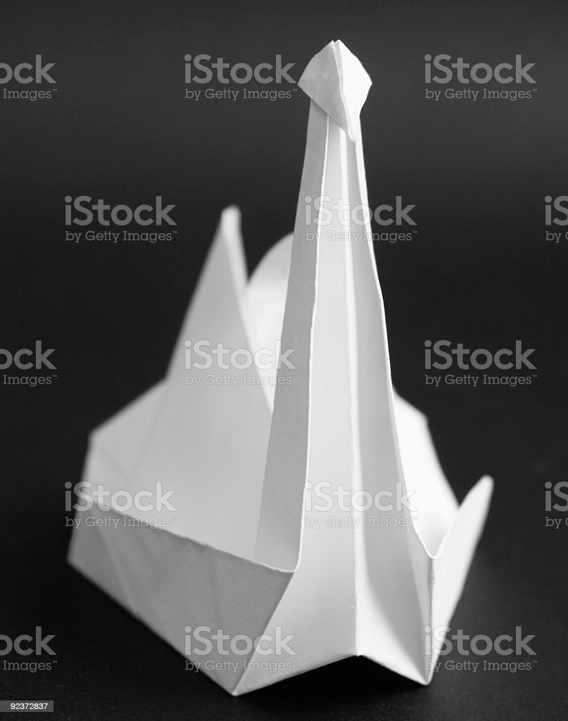 paper crane royalty-free stock photo