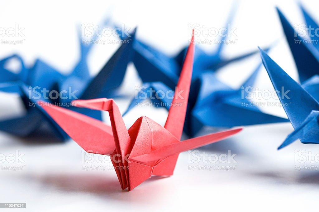 Paper Cranes stock photo